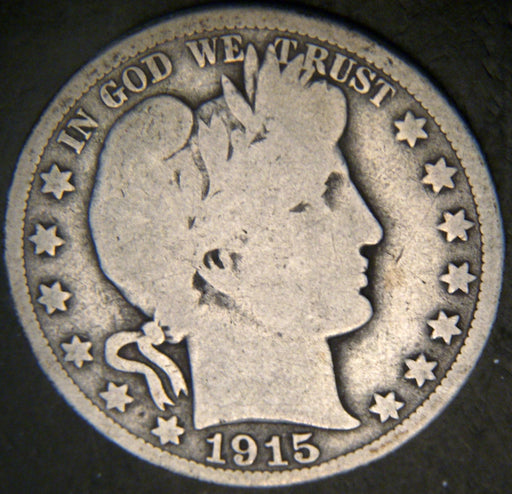 1915 Barber Half Dollar - Good