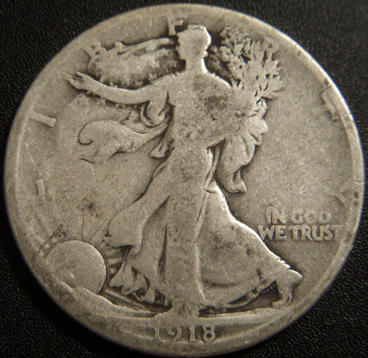 1918-S Walking Half Dollar - Good