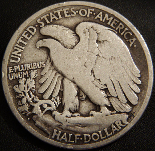 1919-D Walking Half Dollar - Very Good