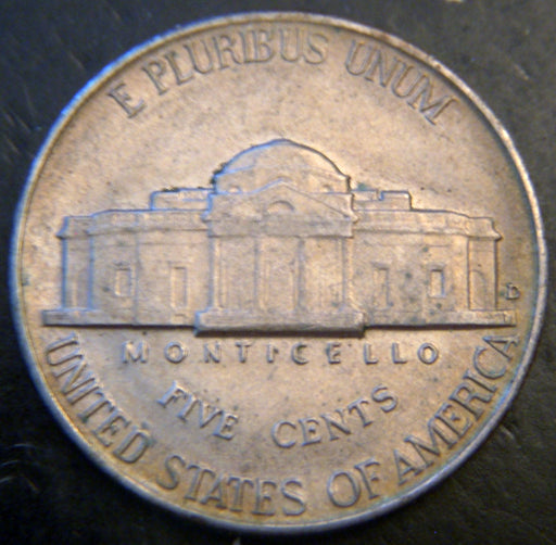 1938-D Jefferson Nickel - VF to AU