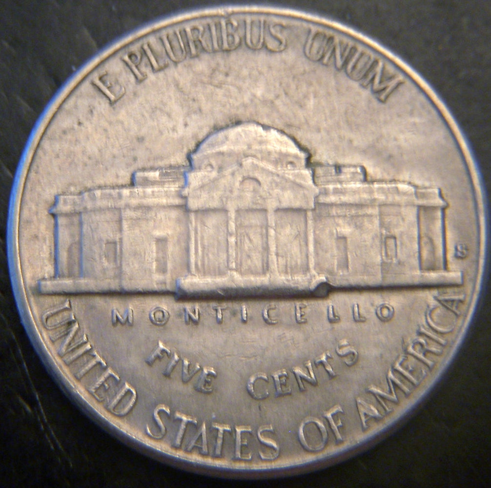 1938-S Jefferson Nickel - VF to AU