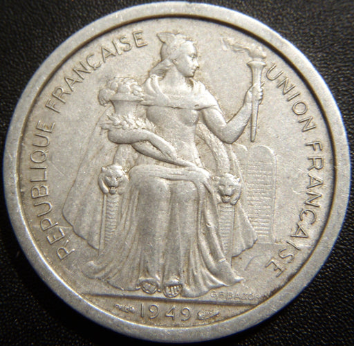 1949a 2 Francs - New Calesonia