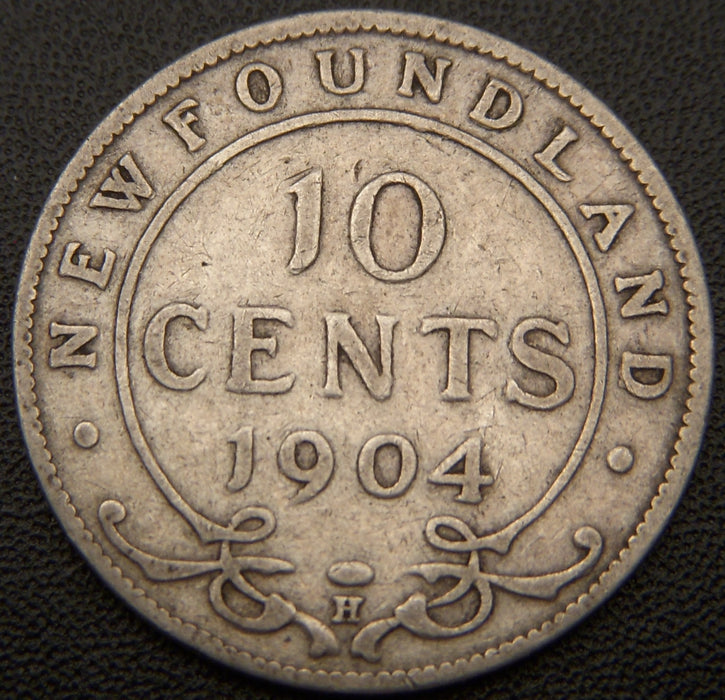 1904H 10 Cent New Foundland VG