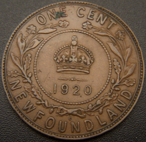 1920c New Foundland One Cent - VF