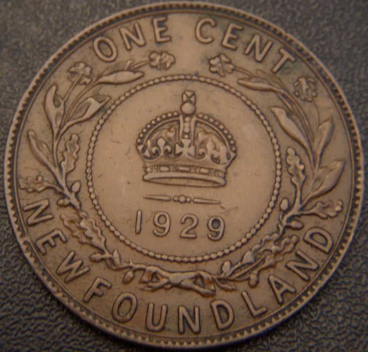 1929 One Cent - New Foundland