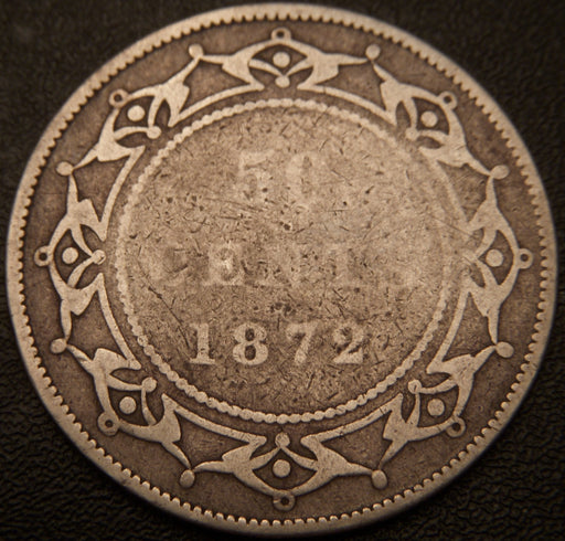 1872H 50 Cent - New Foundland