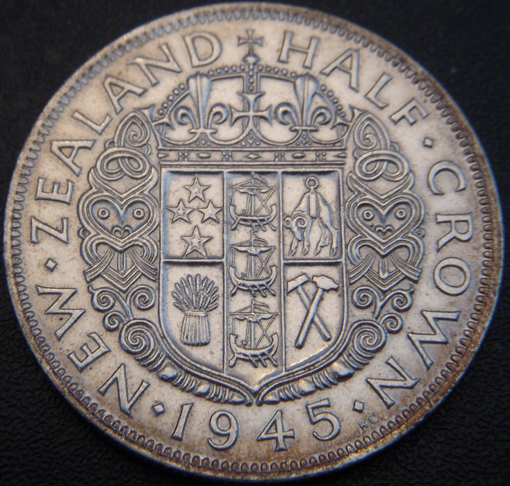 1945 Half Crown - New Zealand