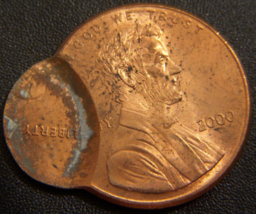 2000 Lincoln Cent - Off Center Double Struck Mint Error