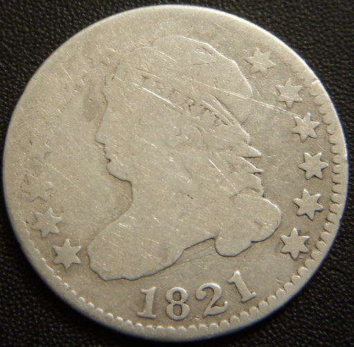 1821 Bust Dime - Good/AG