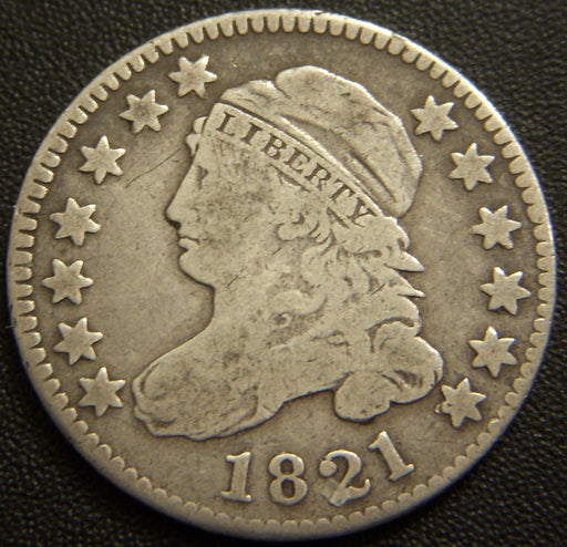 1821 Bust Dime - Fine
