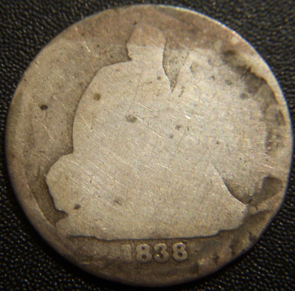 1838-O Seated Dime - About Good