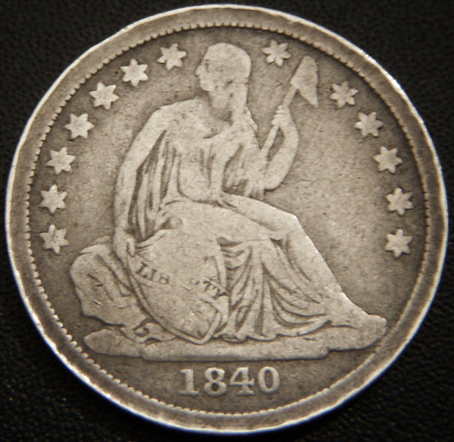 1840 Seated Dime - Very Good