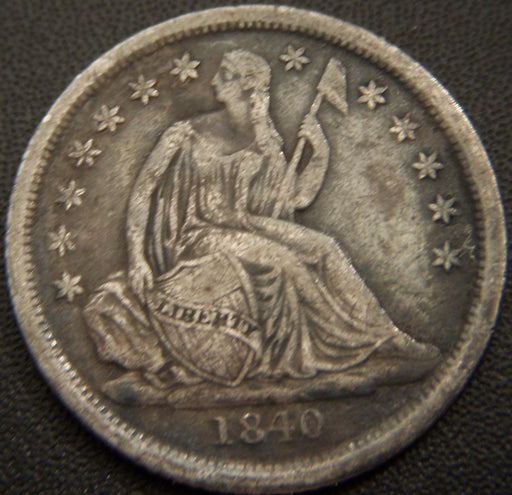 1840-O Seated Dime - No Drapery Very Fine
