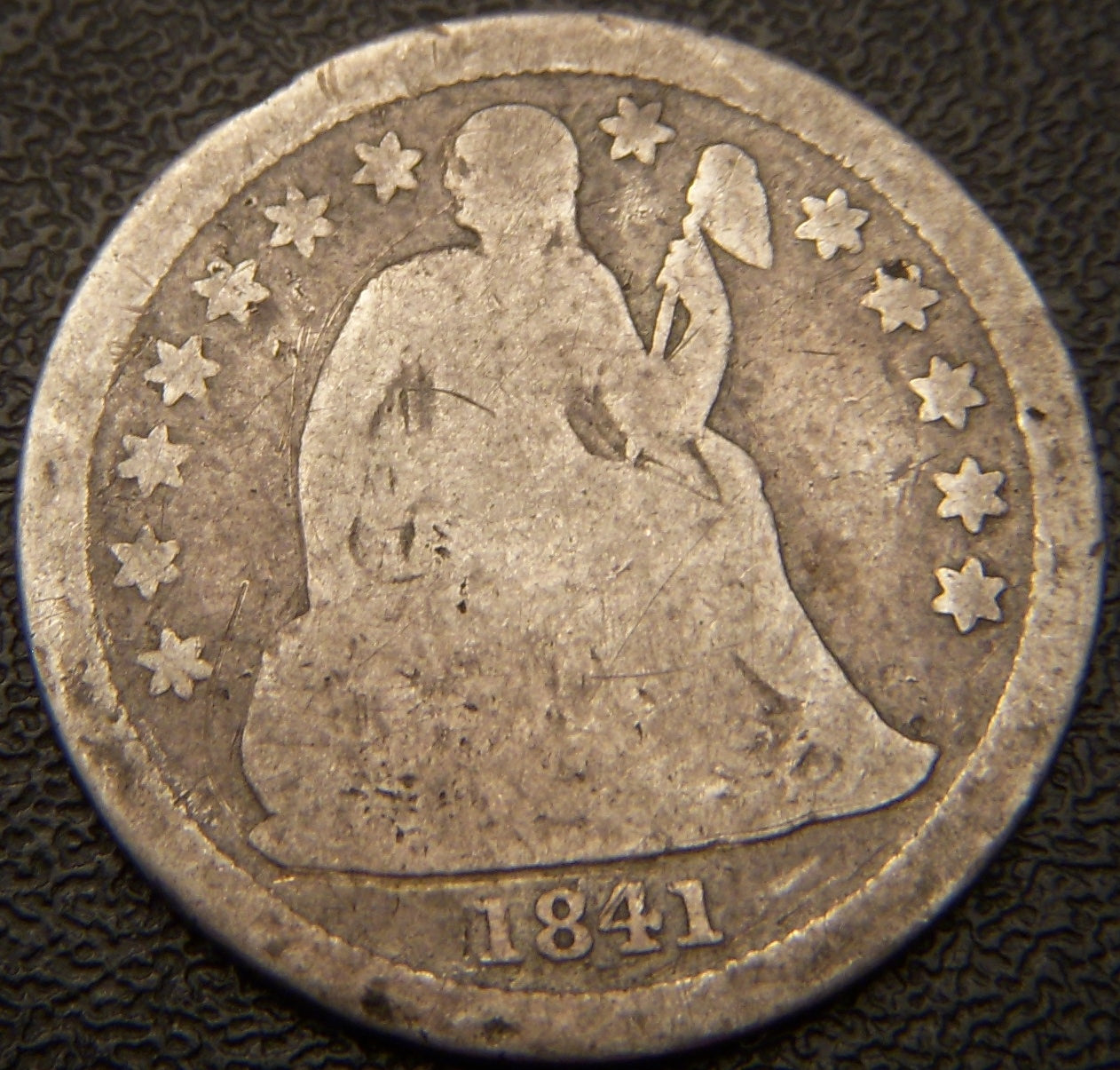 1841 Seated Dime - Good