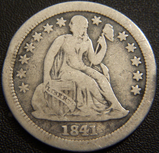 1841-O Seated Dime - Very Good+