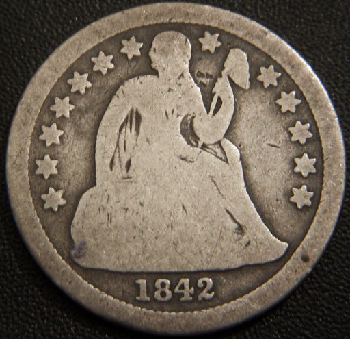1842 Seated Dime - Good