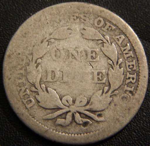 1843 Seated Dime - Good