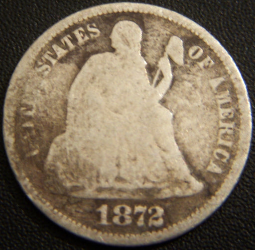 1872 Seated Dime - Good