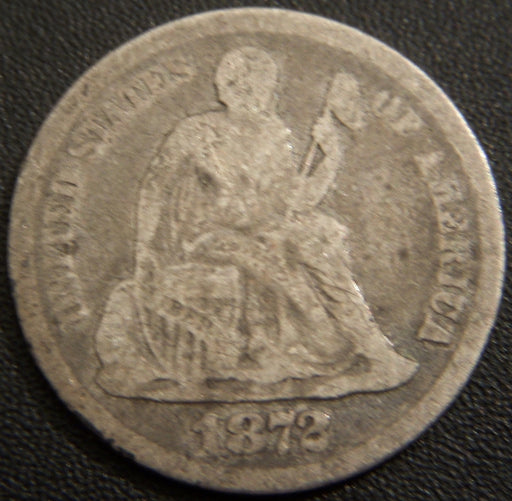 1872 Seated Dime - Very Good