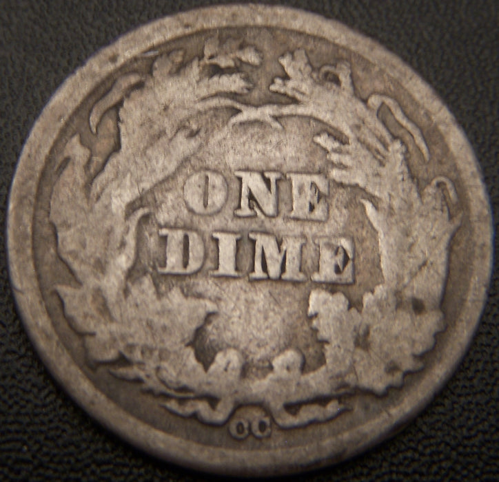 1876-CC Seated Dime - Good+
