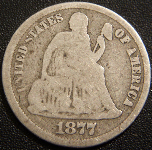 1877-CC Seated Dime - Good