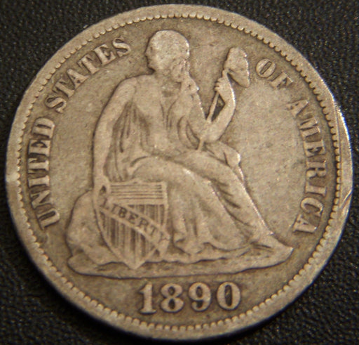 1890 Seated Dime - Very Fine