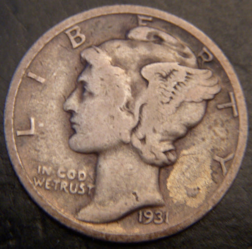 1931-S Mercury Dime - Good/VG