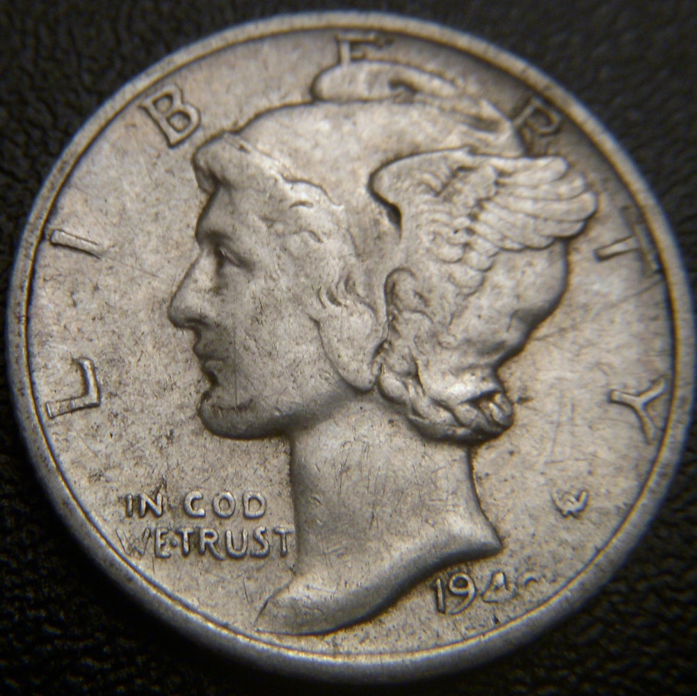 1940-S Mercury Dime - VF to AU