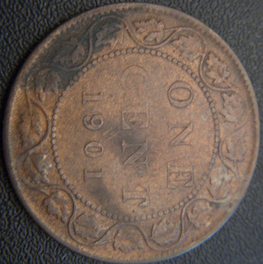 1901 Canadian Large Cent - F
