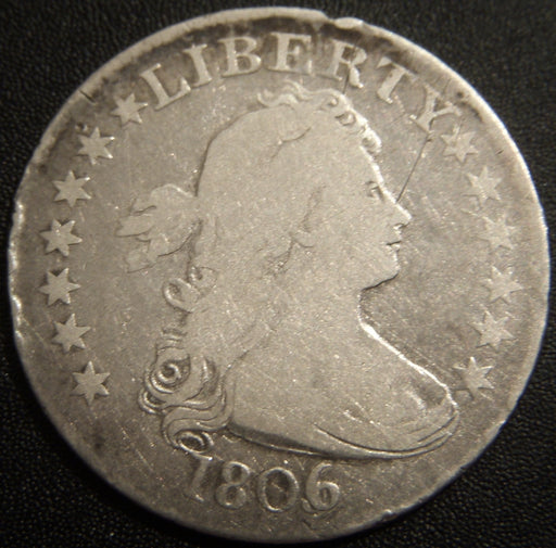 1806/5 Bust Quarter - Very Good