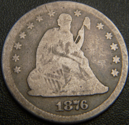 1876 Seated Quarter - Good