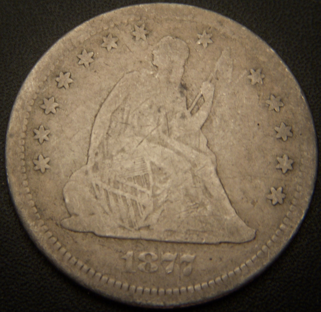 1877-S Seated Quarter - VG