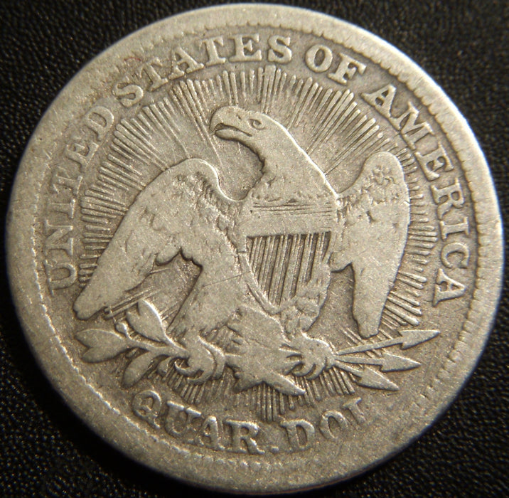 1853 Seated Quarter - Very Good