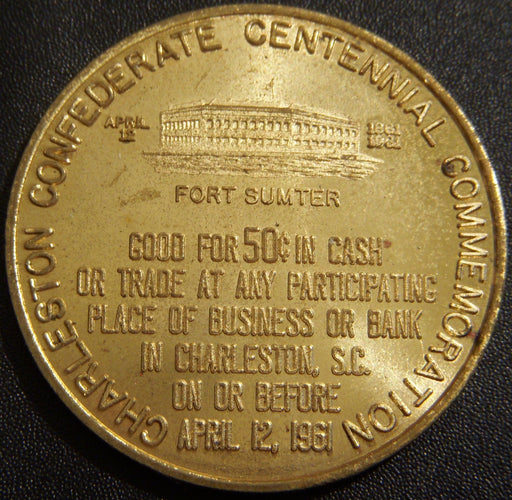 1961 Fort Sumter -  Good For 50C Token