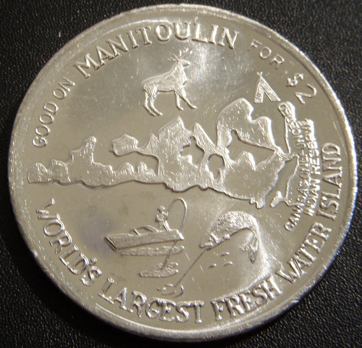 1991 $2 Manitoulin Island / Haweater Canadian Token