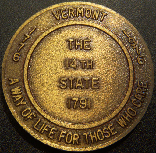 1976 Grand Lodge Vermont Medal