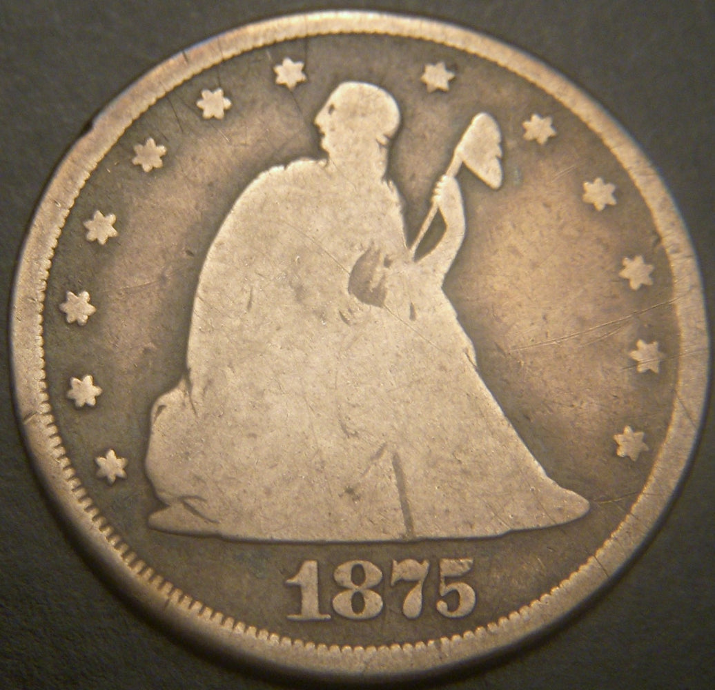 1875-CC Twenty Cent - Good