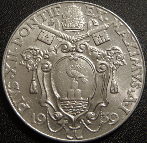 1939 2 Lire - Vatican City