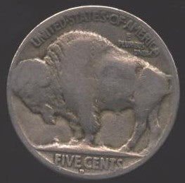 1928-D Buffalo Nickel - Good/VG