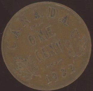 1932 Canadian Cent - VG / Fine