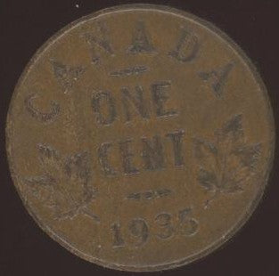 1935 Canadian Cent - VG / Fine