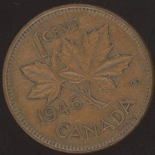 1946 Canadian Cent - VG/Fine