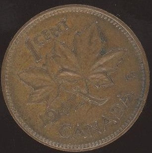 1947 Canadian Cent - Maple Leaf VG/Fine