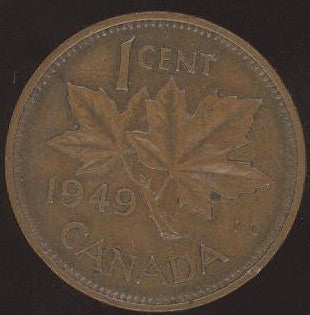 1949 Canadian Cent - VG/Fine