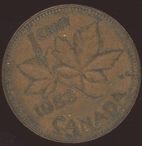 1953 Canadian Cent - VG/Fine
