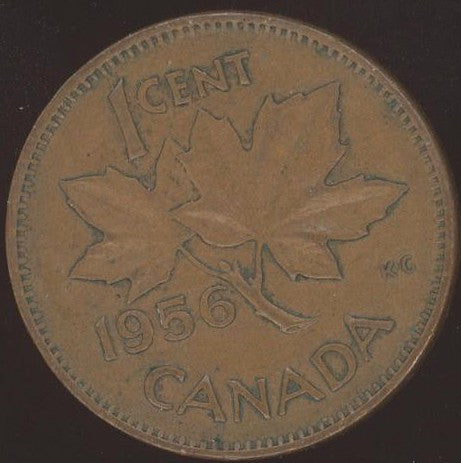 1956 Canadian Cent - VG/Fine
