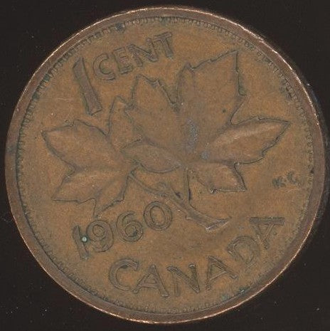 1960 Canadian Cent - VG/Fine