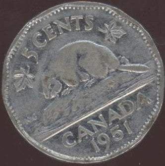 1951 Canadian Nickel - Fine to EF