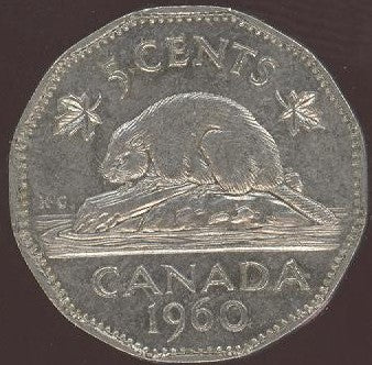 1960 Canadian 5C - Fine to EF