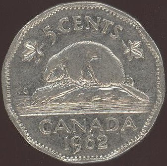 1962 Canadian 5C - Fine to EF